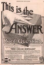1917 A  AD  RED CEDAR SHINGLES SHINGLE BRANCH WEST COAST LUMBERMEN