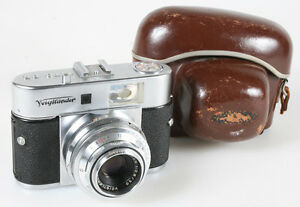 VOIGTLANDER VITO BR RANGEFINDER CAMERA WITH BROWN CASE VINTAGE
