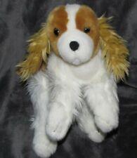 "Toys R Us Stuffed Plush White Brown Cocker Spaniel Dog Puppy 2010 12"""