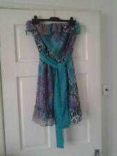 summer dress turquoise/multi colour size 10