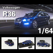 Pre Order - 1:64 VW Wagon R36 Blue with Roof Box Diecast Model Car