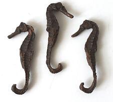3 Deko Seepferdchen 9cm Gießharz wie echt Seepferd