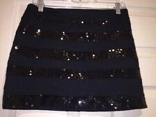 Express Women's Black Sequin Skirt Size 4