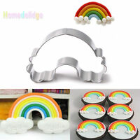 Rainbow Stainless Steel Biscuit Cookie Cake Pastry Fondant Mold Mould Cutter