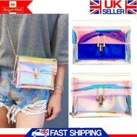 Women Transparent PVC Clear Jelly Clutch Bag Purse Tote Casual Shoulder Handbag