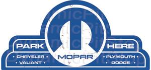 65x30cm Mopar Shield Tin Sign, Man Cave, Garage, Bar, Vintage