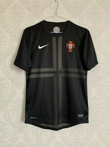 NIKE PORTUGAL 2013 2014 AWAY JERSEY OFFICIAL AUTHENTIC 447885-010 BLACK SIZE S