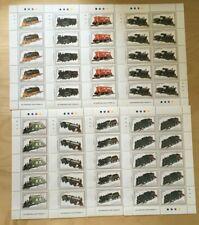 FULL SHEETS Grenadines 1992 1450-7 - Model Trains - Set of Sheets - MNH
