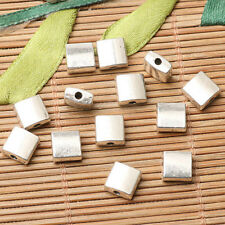 20pcs tibetan silver color square-shaped 7mm spacer bead  H0057