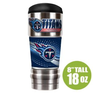 """Tennessee TItans """"MVP"""" 18 ounce Stainless Steel Tumbler Cup Great American"""