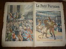 PETIT PARISIEN - 1900 N° 615 caprices d'un lion / retour volontaires anglais