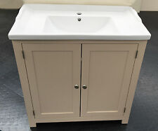 Traditional Bathroom Vanity Unit Cabinet with Ceramic sink Basin 800mm Painted