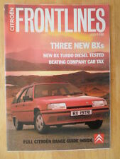 Citroen frontlines 1988 juillet uk marketing in-house magazine brochure-ax bx cx