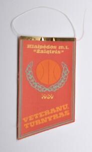 1989 Zalgiris Veterans Lithuanian Basketball Tournament Pennant