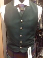 Button Wool Patternless Long Waistcoats for Men