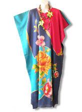 Floral Plus Size Batwing Caftan Kaftan Tunic Hippy Maxi Dress - XL, 1X, 2X & 3X