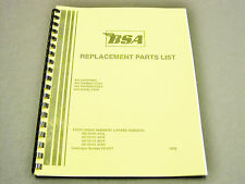 BSA A65 A50 650 500 Replacement Parts List manual book 1970 00-5707