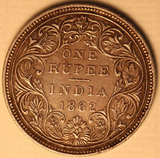 1862 India British Rupee KM 473.1 - 917 silver coin - Queen Victoria