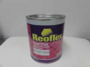 Base Coat Automotive Jet Black REOFLEX Basecoat Gallon