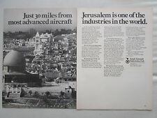5/1970 PUB IAI ISRAEL AIRCRAFT INDUSTRIES JERUSALEM ARAVA COMMODORE ORIGINAL AD