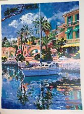 """Hazel Soan - """"Midday Mooring"""" Limited Edition, Signed Serigraph."""