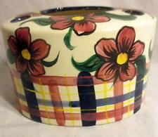 Rare Vallie Pate Ceramic Floral Handpainted Toothbrush Holder