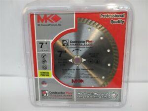 "MK Diamond Products 167001, 7"" Turbo Contractor Plus Diamond Blade"