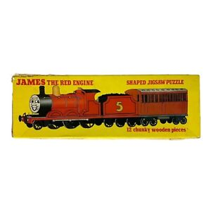 James The Red Engine 12 Piece Wooden Puzzle - Vintage Michael Stanford (1986)