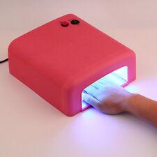 36W UV Nail Lamp Curing Gel Dryer Bulbs Acrylic Art Tips Polish Set 110V-220V