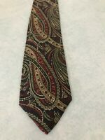 Men's Accessory Tie Necktie Clubfellow Paisley Pattern Red Navy Blue Green Gold