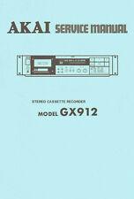 Akai GX-912 Cassette Deck Service Manual, Schematics