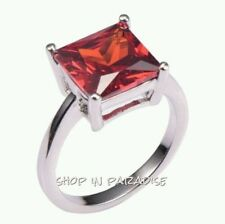 Garnet Handmade White Gold Filled Fashion Jewellery