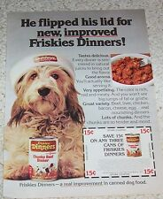 1978 ad page - Friskies beef dinner food Cute shaggy dog Vintage PRINT ADVERT