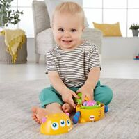 Fisher Price Stack and Nest Monsters, Baby Stacking Toy with Rattle, Sounds and