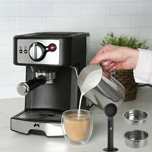 15 Bar Coffee Maker Machine Espresso Latte Cappuccino Barista Style & Free Jug