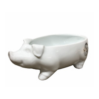 Fitz and Floyd Pig Serve Bowl Farmstead Home Collection Farmhouse Table (NEW)