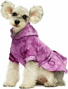 Fitwarm 100% Cotton Tie Dye Dog Clothes Dog Hoodie Dresses Breathable Skirt