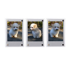 3 PCS Clear Fridge Magnetic Frame 60x90mm-Fuji Mini 9 8 8+ 70 7s Polaroid Film