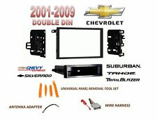 2001-2012 CHEVROLET SILVERADO TAHOE SUBURBAN 2 DIN CAR STEREO INSTALL DASH KIT