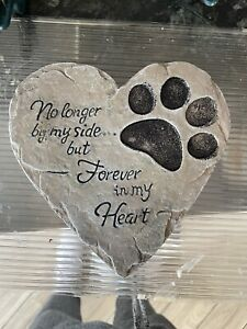 Dog Cat Memorial Paw Print Plaque Rubber latex Mould Mold Animal Memory