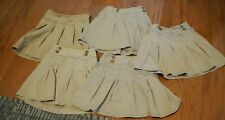 Lot of 5 Uniform Khaki Skirts/Skorts Shorts Old Navy Childrens Place Sz Small 6/