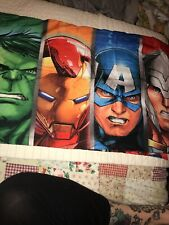 Avengers Marvel Single Standard Pillowcase Polyester Bright Double Sided Comics
