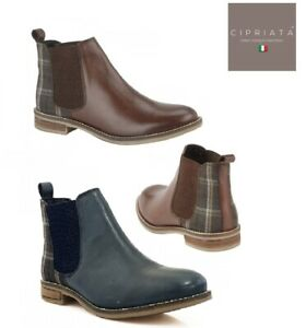 Ladies Ankle Boots Chelsea Leather Twin Gusset TWEED Cipriata Zoe Size 3 - 9 UK
