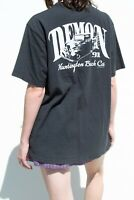 brandy melville black oversize cotton Adelaide pocket Demon '91 top NWT sz M