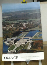 AFFICHE ANCIENNE PHOTO HENRARD CHANTILLY LE CHATEAU OISE