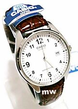 New Casio Leather Analog Classic With Leather Quartz Men Watch MTP-1175E-7B