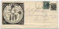 1879 T. Large human hair dealer St. Louis MO cinderella w/ 3ct banknote [4876]