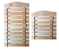 Karate Taekwondo Belt Display Wood Wall Rack Martial Arts 6 or 10 Belts Holder