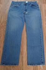 """LEVI'S CLASSIC 501 BUTTON FLY 36 x 32 BLUE JEANS meas 34"""" x 31"""" fray hole #365-1"""