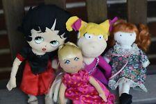 Lot of 4 Cloth Dolls Betty Boop, Rugrats, Etc by Karito Kids, Kellytoy & Mattel